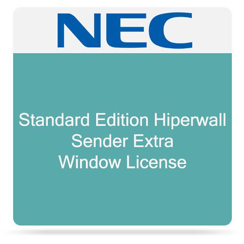 NEC Standard Edition Hiperwall Sender Extra Window License