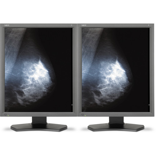 "NEC 2-Matched MD211G5 21"" Grayscale 5MP Medical Diagnostic Monitors"