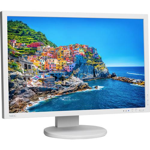"NEC PA243W 24.1"" 16:10 Wide Gamut IPS Monitor (White)"