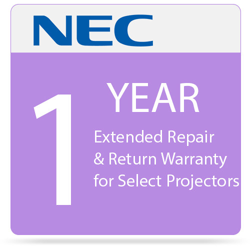 NEC One Year Extended Repair & Return Warranty for Select Projectors