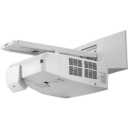 NEC 3600-Lumen Interactive Ultra Short Throw Projector with Touch Module and Wall Mount