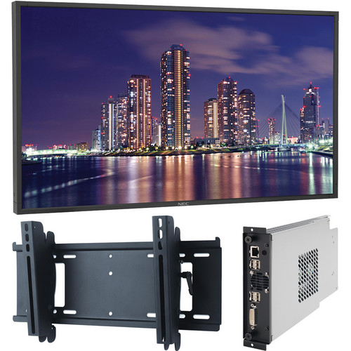 "NEC 55"" Public LCD Display Monitor, Single Board Computer Bundle"