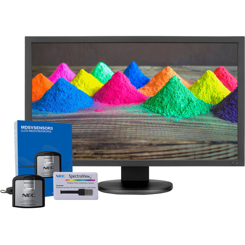 """NEC PA271Q-BK-SV 27"""" 16:9 Color-Critical IPS Monitor with SpectraView II Color Calibration"""