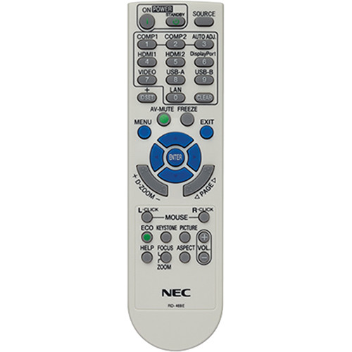 NEC RMT-PJ36 Replacement Remote Control for NP Series Projectors