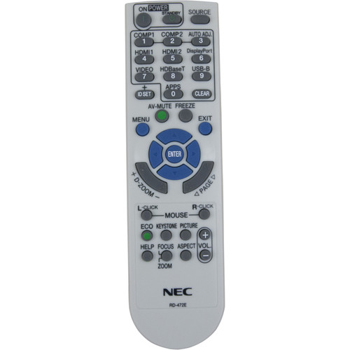 NEC RMT-PJ38 Replacement Remote Control for P-Series Projectors