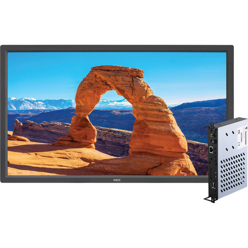 "NEC V323-2 32"" 1080p S-IPS LED-Backlit Commercial-Grade Display with Integrated Digital Media Player"