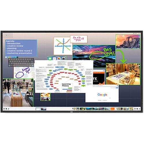 "NEC V652 65"" Full HD Commercial LCD Display with ThinkHub Standard Software"