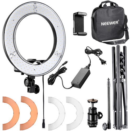 "Neewer LED Ring Light with Stand and Accessories Kit (14"")"