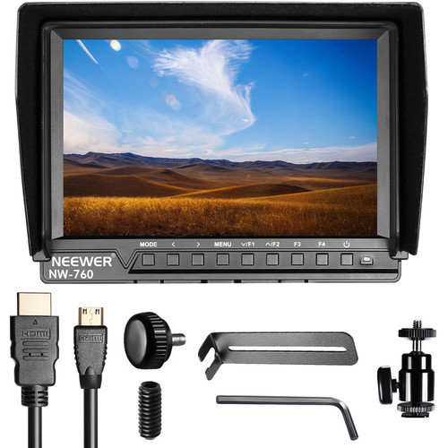 """Neewer NW-760 Field Monitor Ultra-Thin 7"""" IPS Screen 1080P Full HD 1920x1200  (Battery Not Included)"""