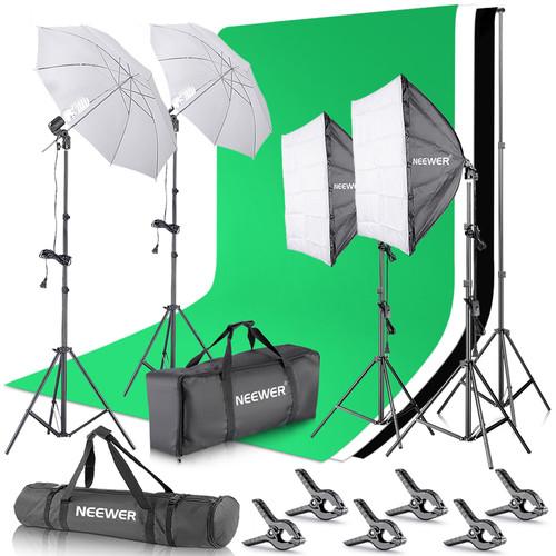 Neewer Four-Light Portable Studio Kit
