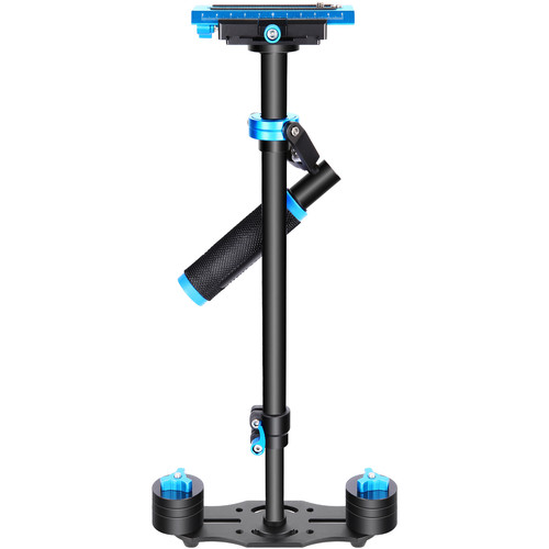 """Neewer 24"""" Camera Stabilizer with Quick Release Plate (Aluminum, Black/Blue)"""
