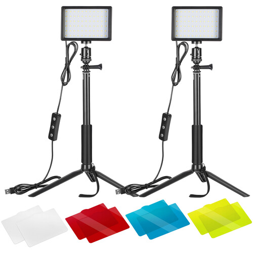 Neewer Tabletop LED Video 2-Light Kit with Mini Tripod Stands