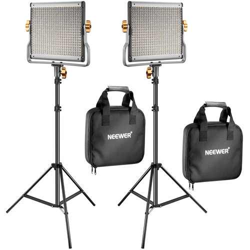 Neewer Bi-Color 480 LED 2-Light Kit with Stands