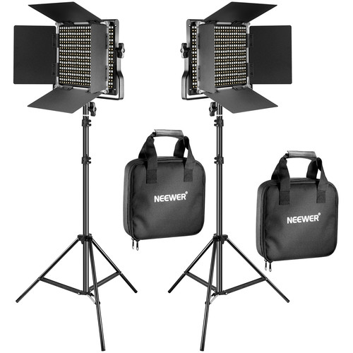 Neewer Bi-Color Video LED 2-Light Kit with Stands