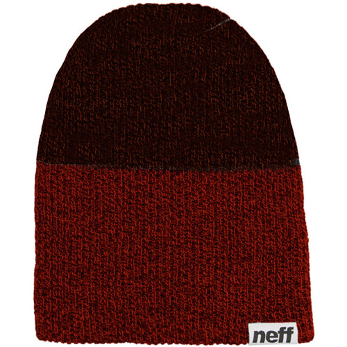 Neff Duo Beanie (Maroon Heather/ Charcoal Heather)