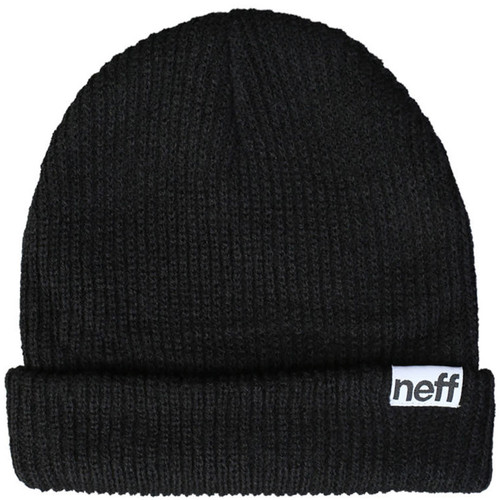 neff fold beanie black nf00002 blck b h photo video. Black Bedroom Furniture Sets. Home Design Ideas