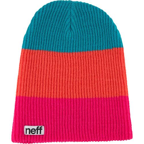 Neff Trio Beanie (Pink/Coral/Teal)