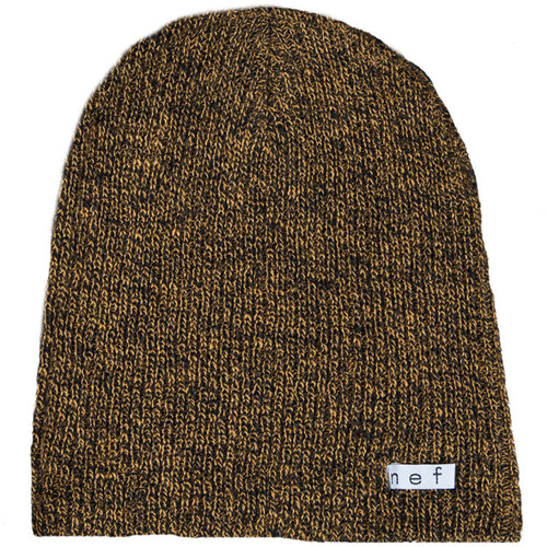 Neff Daily Heather Beanie (Black/Mustard)