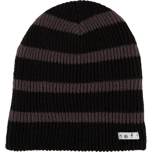 Neff Daily Stripe Beanie (Black/Charcoal)