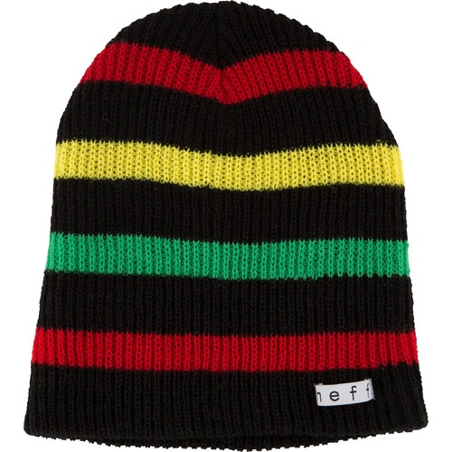 Neff Daily Stripe Beanie (Black/Rasta)