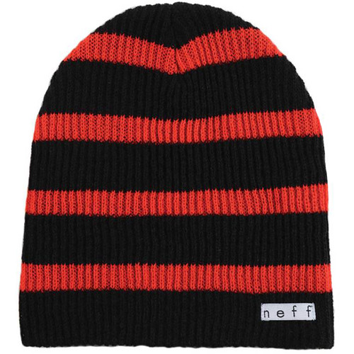 Neff Daily Stripe Beanie (Red/Black)