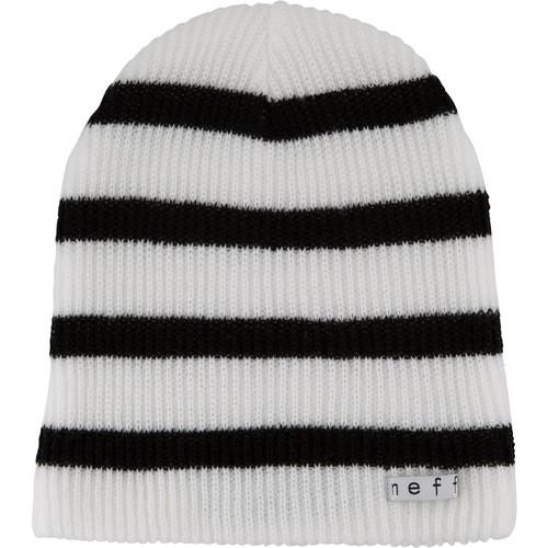 Neff Daily Stripe Beanie (White/Black)