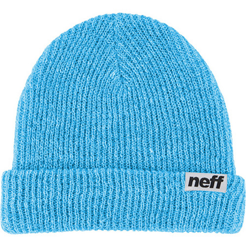 Neff Fold Heather Beanie (Light Blue/White)