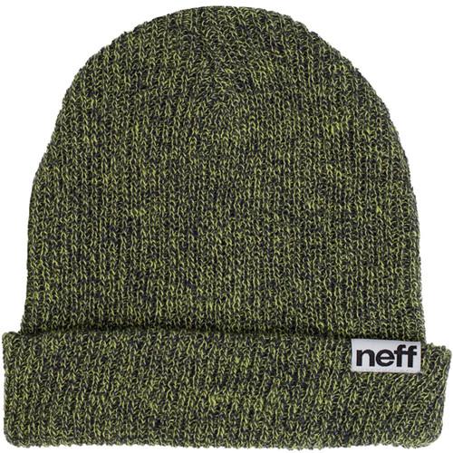 Neff Fold Heather Beanie (Navy/Lime)