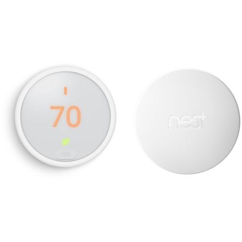 Nest Learning Thermostat E (White) and Temperature Sensor (White) Kit