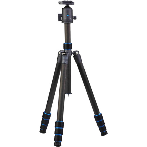 "Nest Tripods NT-TL65-CF Traveler Series 65.4"" Carbon-Fiber Tripod/Monopod with Quick Release Ball Head"