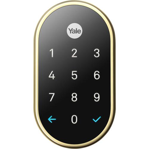 Google Nest x Yale Lock (Polished Brass) with Nest Connect