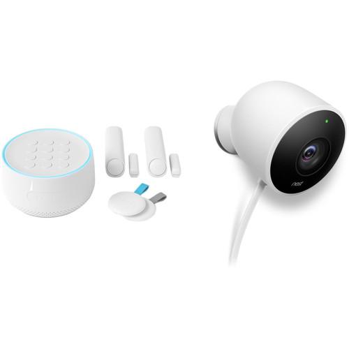 Google Nest Secure Alarm System Starter Pack & Outdoor Security Camera Kit