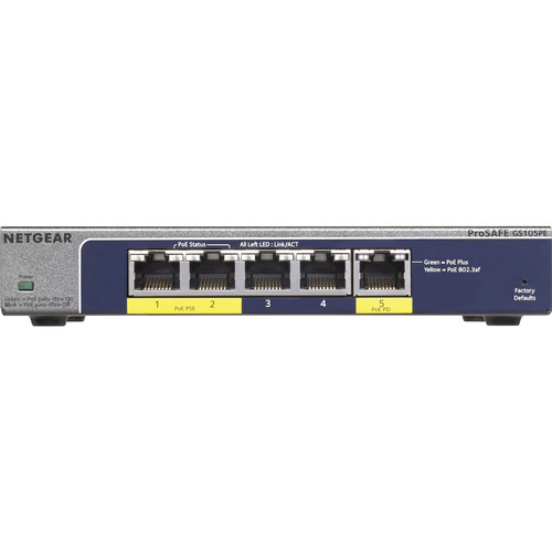 Netgear ProSafe Plus 5-Port Gigabit Ethernet Switch
