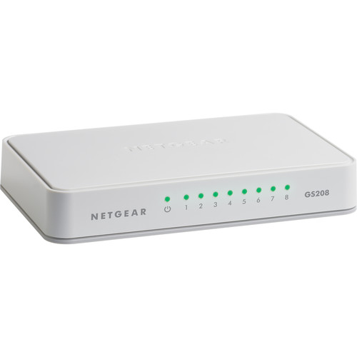 Netgear GS208 8-Port Gigabit Ethernet Unmanaged Switch