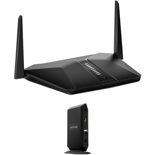 Netgear Nighthawk AX4 4-Stream AX3000 Wi-Fi Router + Cable Modem