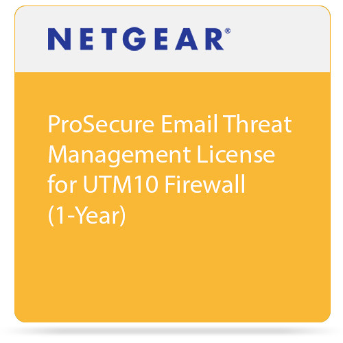 Netgear ProSecure Email Threat Management License for UTM10 Firewall (1-Year)