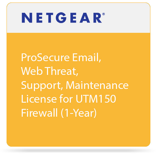 Netgear ProSecure Email, Web Threat, Support, Maintenance License for UTM150 Firewall (1-Year)