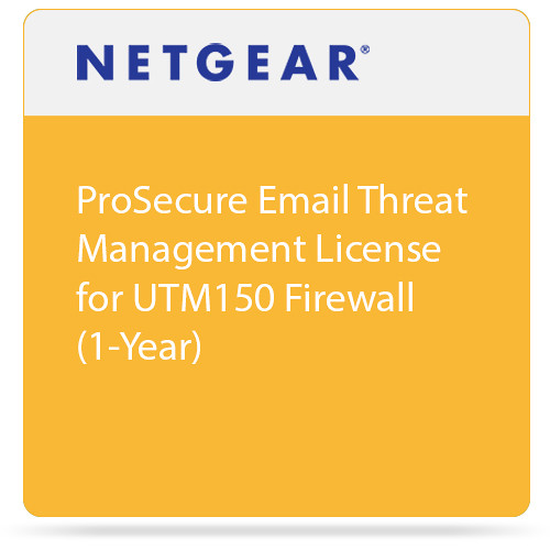 Netgear ProSecure Email Threat Management License for UTM150 Firewall (1-Year)