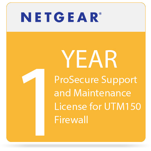 Netgear ProSecure Support and Maintenance License for UTM150 Firewall (1-Year)