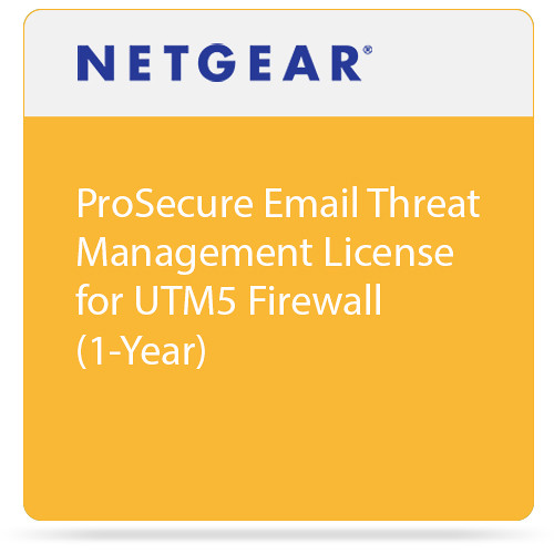 Netgear ProSecure Email Threat Management License for UTM5 Firewall (1-Year)