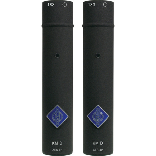 Neumann KM 183D Small Diaphragm Omnidirectional Digital Microphone with AES/EBU Output (Stereo Pair, Black)