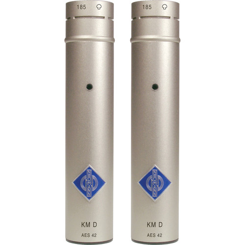 Neumann KM 185 D Hypercardioid Digital Microphone with AES/EBU Output (Stereo Pair, Nickel)