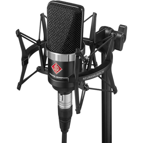 Neumann TLM-102 Large Diaphragm Studio Condenser Microphone (Studio Set,<sp> </sp>Black)