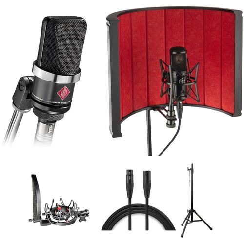 Neumann TLM-102 Large-Diaphragm Condenser Microphone Vocal Studio Kit (Black)