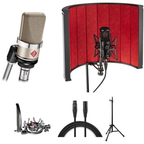 Neumann TLM-102 Large-Diaphragm Condenser Microphone Vocal Studio Kit (Nickel)
