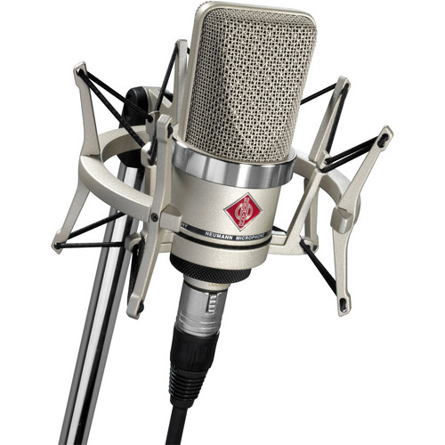 Neumann TLM-102 Large Diaphragm Studio Condenser Microphone (Studio Set,<sp> </sp>Nickel)