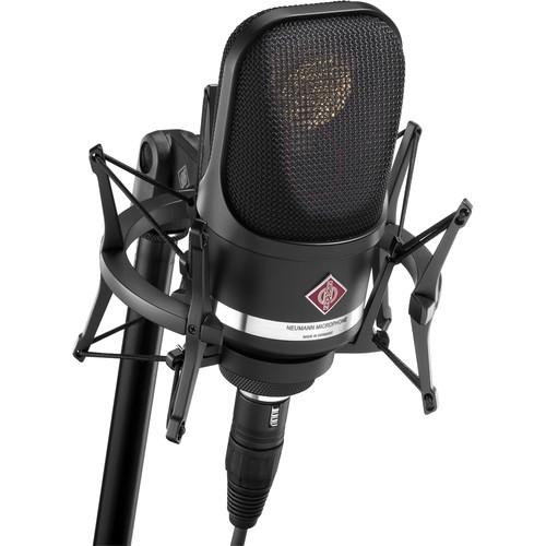 Neumann TLM 107 Multi-Pattern Large Diaphragm Condenser Microphone (Studio Set, Black)