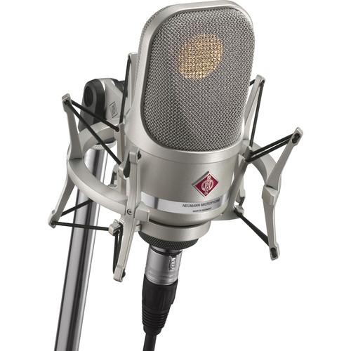 Neumann TLM 107 Multi-Pattern Large Diaphragm Condenser Microphone (Studio Set, Nickel)