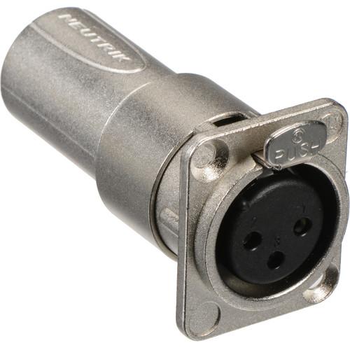Neutrik NA3FDM XLR Female to Male Feedthrough Adapter for Panel Mount