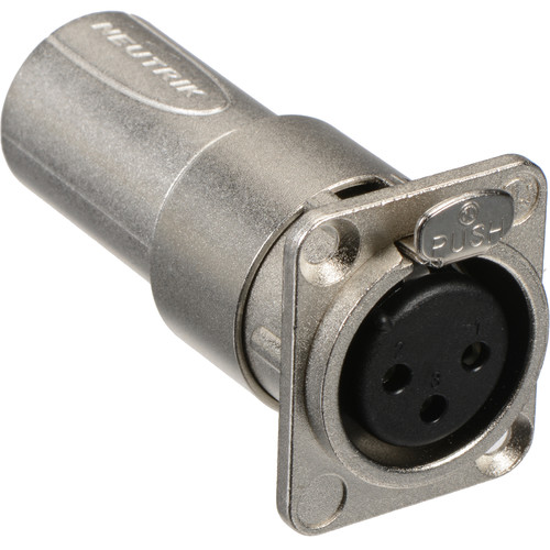 Neutrik NA3FDM XLR Female to Male Feedthrough Adapter for Panel Mount